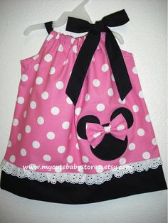 Minnie Mouse Pillowcase Dress with a triple ruffle at the bottom. Initial in Mouse Head. $35.00 via Etsy.   Things I love   Pinterest   Minnie mouse and ... & Minnie Mouse Pillowcase Dress with a triple ruffle at the bottom ... pillowsntoast.com