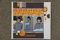 Halloween Layout - Doodlebug Design  Featured in the Nov 2014 issue of Scrapbook Generation's CREATE magazine http://issuu.com/sgcreate/docs/november_-_create_-_2014