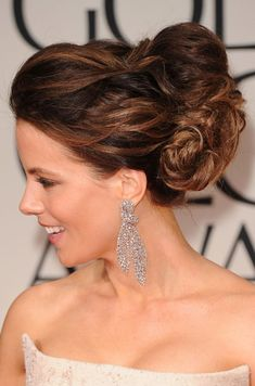 Wedding Hairstyles: Kate Beckinsale Bobby Pinned updo