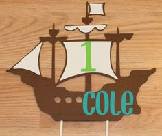 Hey, I found this really awesome Etsy listing at https://www.etsy.com/listing/113493699/pirate-ship-cake-topper-pirate-ship