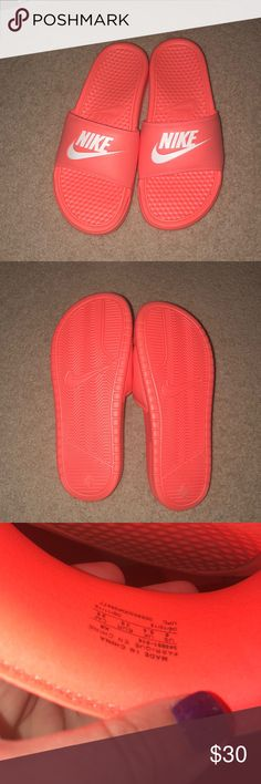 ed24bde006449e NWOT Neon pink Nike Slides These are brand new