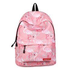 Cute Pink Flamingo Print Fashion Backpack - Just Pink About It Flamingo Party, Flamingo Print, Pink Flamingos, Animal Backpacks, Cool Backpacks, Teen Backpacks, Canvas Backpacks, Leather Backpacks, Leather Bags