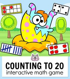 Your students will have a blast counting and subitizing within 20 to hatch adorable monsters from colorful eggs! Kindergarten Math Games, Classroom Activities, Kitty Games, Cat Games, Educational Websites For Kids, Smart Board Activities, Subitizing, Monster, Perfect Game