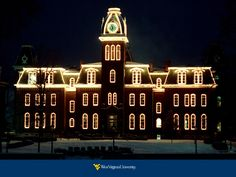 WVU Woodburn Hall at Christmas such a beautiful thing!
