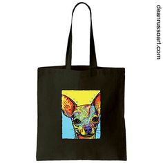Chihuahua Canvas Tote Bag. Available now on our website. www.deanrussoart.com.