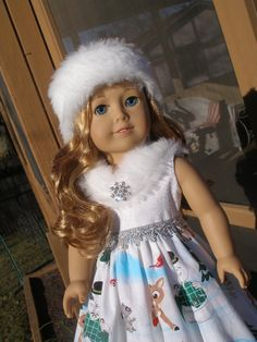 Winter Wonderland Dress for 18 doll like by americangirlstyled