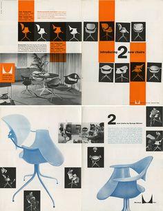 Vintage Herman Miller MAA Brochure  for designer George Nelson. @CTSart #design