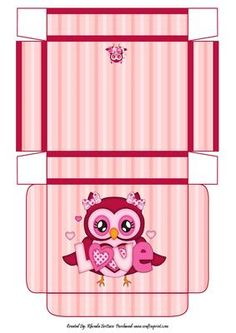Owl in Love Gift Box on Craftsuprint - Add To Basket!