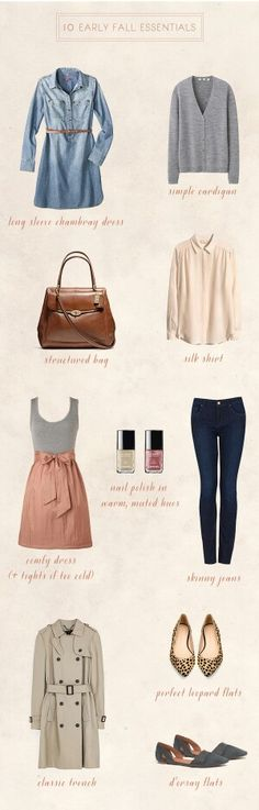 Pretty fall essentials