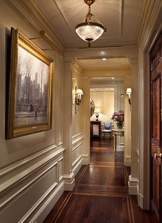 Image result for nyc foyer with crown molding and lighting fixture
