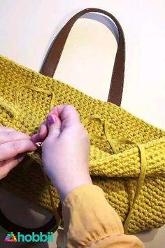 Col Crochet, Free Crochet Bag, Crochet Market Bag, Crochet Tote, Crochet Handbags, Crochet Crafts, Diy Handbag, Diy Purse, Crochet Bag Tutorials