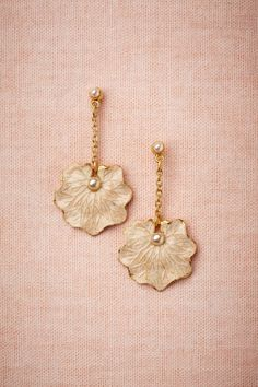 Lilypad Earrings from BHLDN