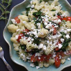 Greek Cauliflower Pasta Salad