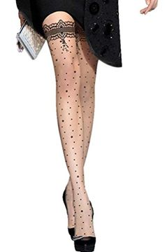 Women's Fun Pattern Printed Tattoo Pantyhose Stockings, Small Flower Dots QinMi Lover http://www.amazon.com/dp/B00RL61CIA/ref=cm_sw_r_pi_dp_pJTlvb0VRJCCC