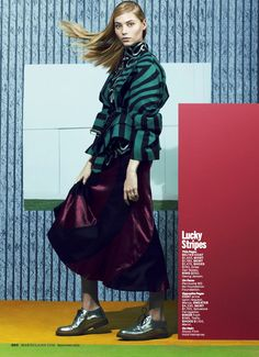 visual optimism; fashion editorials, shows, campaigns & more!: mix masters: vika falileeva by chad pitman for marie claire september 2014