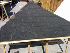 Heute habe ich den erforderlichen Rahmen für das Dach an den Pavillon…