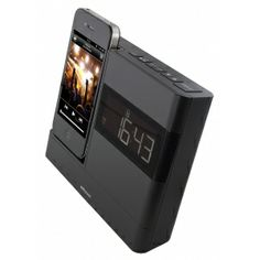 iPod Clock Radio Dock Audio Headphones, Audio Speakers, Docking Station, Iphone 4s, Digital Alarm Clock, Ipod Touch, Design, Apple, Link