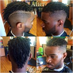 """BOOM‼️ MY MANS BACK IN THE GAME. FRESH LOCS AND FRESH FADE. GODDA STAY """"FLY"""" YOU KNOW HOW WE DO"""