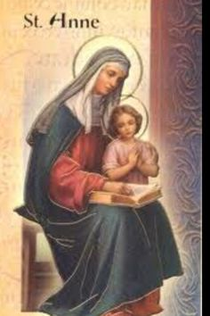 St Anne with the Virgin Mary Catholic Prayers, Catholic Art, Catholic Saints, Patron Saints, Religious Art, Roman Catholic, Catholic Online, Blessed Mother Mary, Blessed Virgin Mary