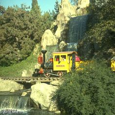 the Main Train through Nature's wonderland.. replaced by Big Thunder Mt. in the 70's