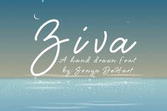 Ziva A Hand Drawn Script Font By Sonya DeHart By Sonya DeHart Design