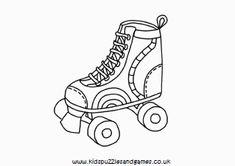 Rollerblades Colorable Line Art Free Clip Art – Play coloring with us Coloring Book Pages, Coloring Pages For Kids, Coloring Sheets, Roller Derby Tattoo, Kids Roller Skates, Derby Skates, Camp Counselor, Puzzles For Kids, Roller Skating
