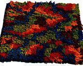 Crochet Rug Pattern Loop Rug Vintage Pattern Floor Rugs Crochet patterns PDF Instant Download Pattern