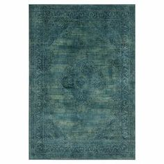 Offset neutral tones and wood floors with this loomed art silk rug, featuring cool hues and a warmly weathered motif.  Product: RugConstruction Material: Art silk Color: Turquoise Features: Made in IndiaNote: Please be aware that actual colors may vary from those shown on your screen. Accent rugs may also not show the entire pattern that the corresponding area rugs have.