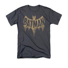 This+100%+cotton+adult+shirt+features+a+vintage+1966+Batman+logo.