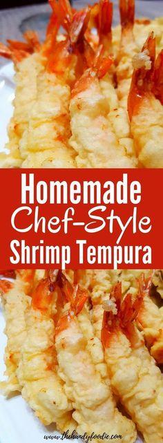 Homemade Crispy Shrimp Tempura Recipe – Homemade Shrimp Tempura l chef recipe l easy recipe l cheap meal l budget l healthy food l shrimp recipes l shrimp meals l fried appetizers l quick recipe Chef Recipes, Quick Recipes, Easy Healthy Recipes, Fish Recipes, Seafood Recipes, Cooking Recipes, Healthy Food, Family Recipes, Cooking Fish