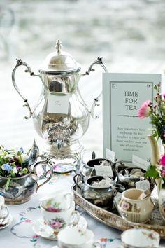 Si ti boda es de día, qué mejor excusa para tomar un té  #teatime #vajilla #decoracionboda