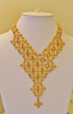 Vintage Monet Signed Egyptian Bib 1970's Vogue Necklace - Bold!