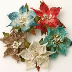 BURLAP Pointsettias are the perfect flower for the Holidays!  See them on the Petaloo Blog now...