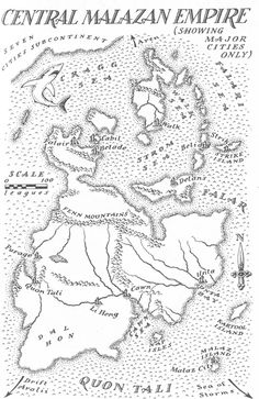 Central Malazan Empire.  Steven Erikson and ian Esselmont.  Google Image Result for http://images.wikia.com/malazan/images/0/0c/Map_Malazan_Empire.jpg