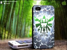 Zelda Triforce Logo Cracking Design For iPhone 5 / 4 by SidePucket, $14.89