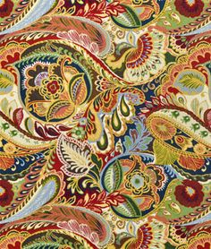 Richloom Giverny Cameleon Fabric | onlinefabricstore.net Curtains? Pillows? Love this brightly coloUred fabric!