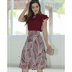 Simple Dresses, Beautiful Dresses, Casual Dresses, Casual Outfits, Blue Skirt Outfits, Pretty Outfits, Sunmer Dresses, Corporate Attire, Formal Looks