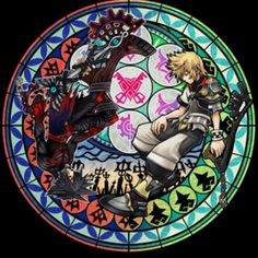 Kingdom Hearts    Loving the stain glass designs!