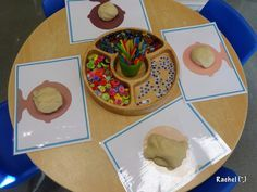 """Play dough faces with mats from Picklebums - from Rachel ("""",)"""