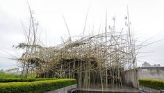 """""""Big Bamboo"""" American artists Mike and Doug Starn (born 1961),The Metropolitan Museum of Art site-specific installation for The Iris and B. Gerald Cantor Roof Garden"""