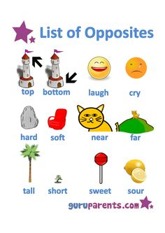 list of opposites worksheet 3