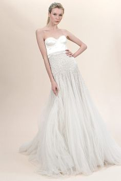 Ah the skirt is beautiful... If only the top looked finished... Jenny Packham Bridal Fall 2010