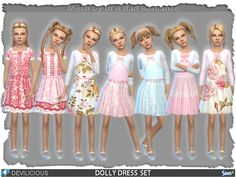 Sims 4 Updates: TSR - Clothing, Female : Dolly Dress Set by Devilicious, Custom Content Download!
