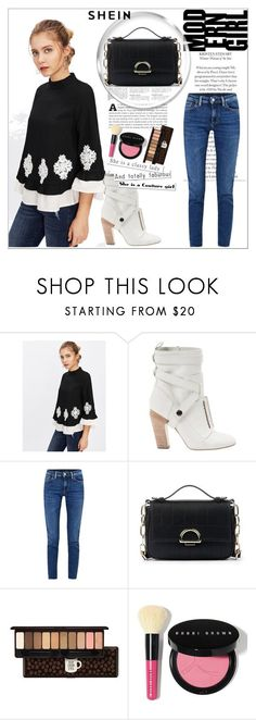 """""""Pearl-Beading-Lace-Applique-Frilled-Top"""" by edyta-murselovic ❤ liked on Polyvore featuring Fendi, Acne Studios, Sole Society, Etude House and Bobbi Brown Cosmetics"""