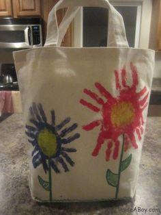Flower Hand Print Bag