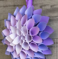 you can make this paper dahlia with $3.00 TODAY .. click to watch and shop #diy #paper #papercraft #weddings #weddingplanning