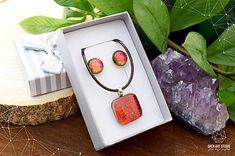 AngelEve / Oranžová sada sklenených šperkov Jewelry Art, Jewellery, Open Art, Jewels, Schmuck, Jewelry Shop, Jewlery, Jewelery