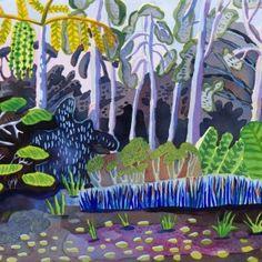 Malaysia 27 by Jennifer Tyers Color Lines, Colour, David Hockney, Garden Painting, Australian Artists, Art Studies, Landscape Art, Illustrators, Contemporary Art