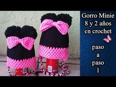 GORRO MINIE 2 Y 8 AÑOS en crochet PASO A PASO 1 de 2 - YouTube Crochet Bebe, Crochet Hats, Make It Yourself, Youtube, Black Caps, Beanies, Tutorials, Tejidos, Patterns