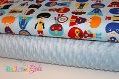 Minky Blanket Kit Super Kids in Adventure by BaileyGirlsFabric, $17.00